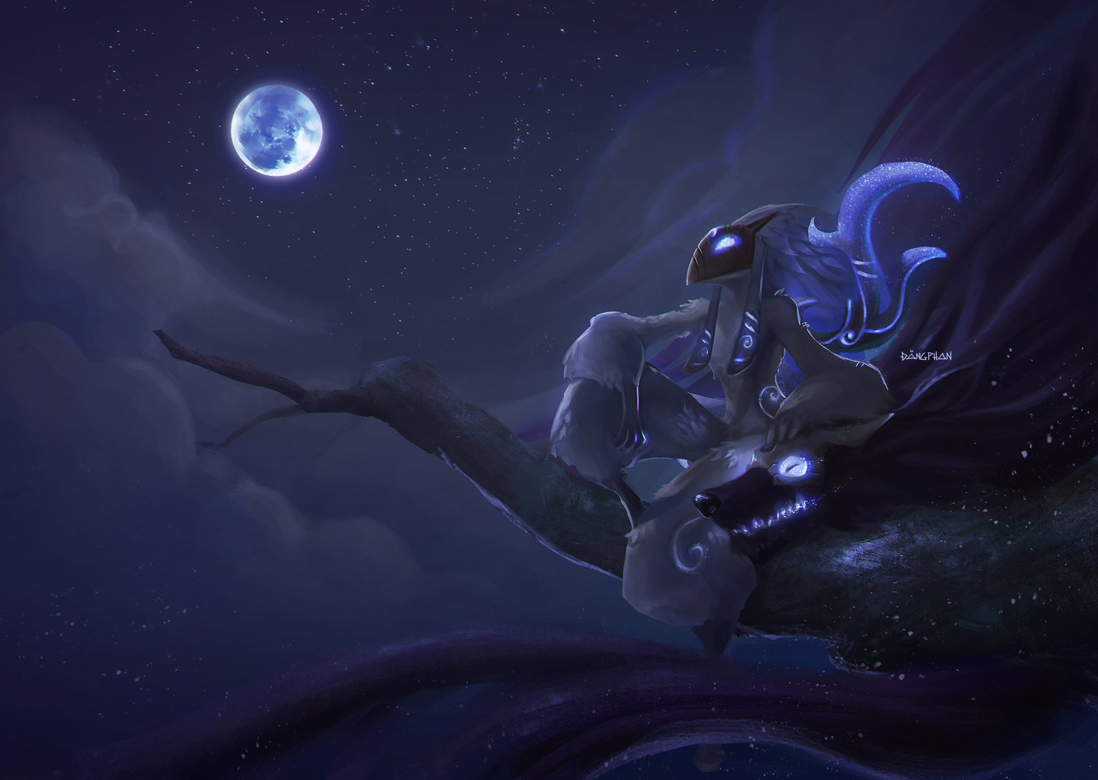 Kindred Minimalist Wallpaper League Of Legends By: Kindred Community Creations