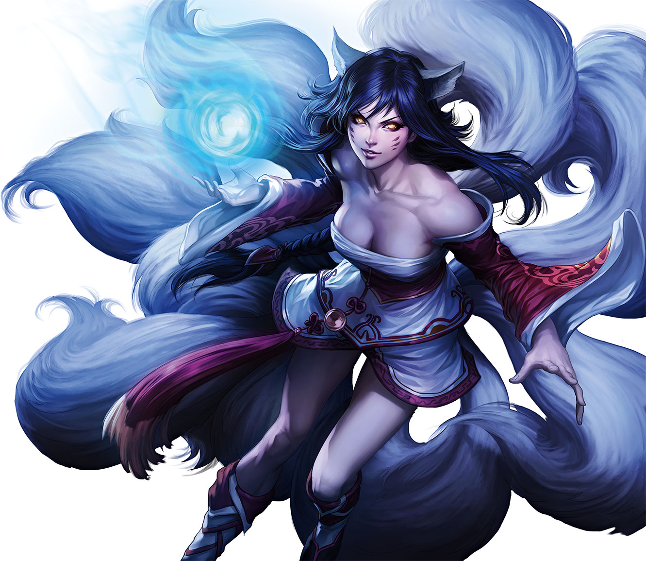 ahritime - Ahri from The Art of League of Legends book