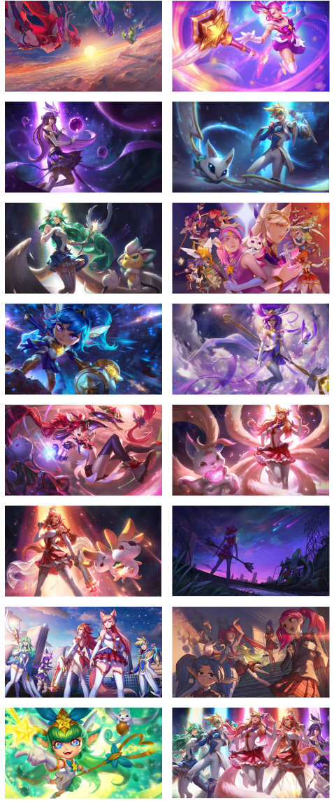 Star Guardian Collections Grid