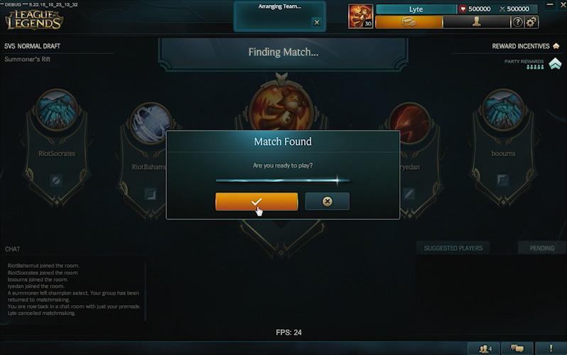Matchmaking league of legends normal